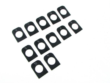 EAA / Tanfoglio Large Frame Easy Off Magazine Basepad Grip Tape  - Numbered 0-11