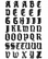 Old School Gothic Letter Fridge Magnets