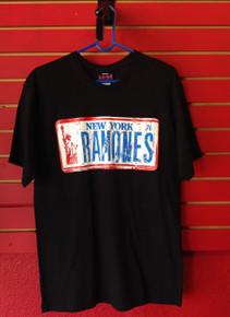 Ramones New York License Plate T-Shirt