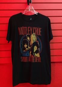 Motley Crue Vintage Look Shout at the Devil 83 World Tour T-Shirt