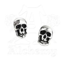 Alchemy of England Death Skull Stud Earrings