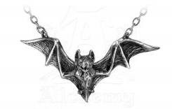 Alchemy of England Om Strygia Bat Pendant Necklace