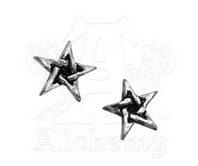 Alchemy of England Pewter Pentagram Stud Earrings