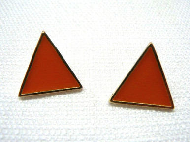 80s Arcade Babe Earrings in Orange Video Games