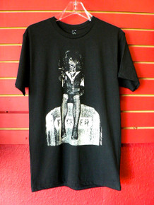 Rozz Williams - Christian Death - Fucker Gravestone Edward Colver Photo T-Shirt by Lethal Amounts Los Angeles gothic goth