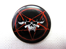 Glenn Danzig Skull Logo and Pentagram Pin