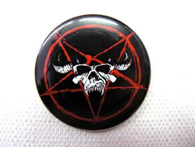 Glenn Danzig Skull Logo and Pentagram Pin