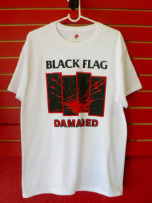 Black Flag Bars Logo Damaged T-Shirt SST Records
