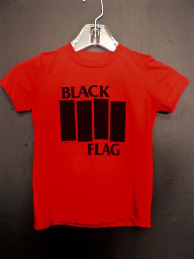 Black Flag Bars Logo Toddler T-Shirt In Red