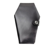 Fiendishly Fun Black Leather Gothic Coffin Wallet from Alchemy of England