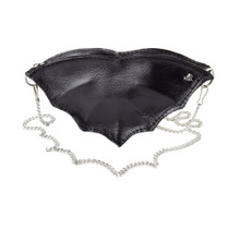 Gothic Black Leather Bat Purse from Alchemy of England