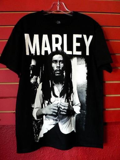 Bob Marley - Marley - Black and White Photo Portrait T-Shirt