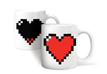Video Game Pixel Heart Morph Mug
