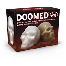 Doomed Glass Skull Salt and Pepper Shakers