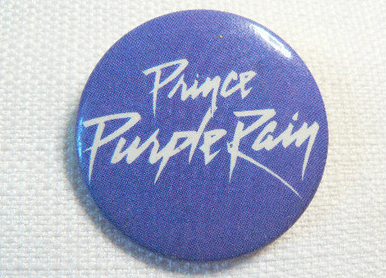 Vintage 80s Prince - Purple Rain- Purple and White Logo -  Pin / Button / Badge