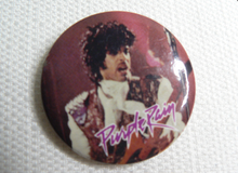 Vintage 80s Prince Purple Rain Pin / Button / Badge
