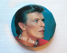 BIG Vintage Early 80s David Bowie Pin / Button / Badge