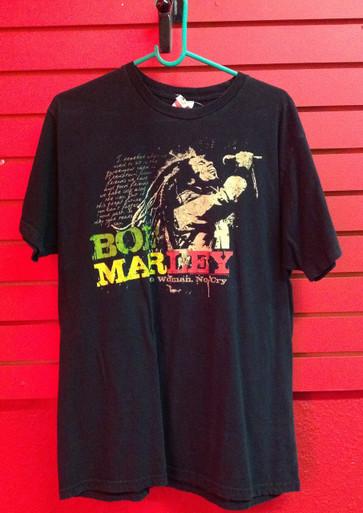 Bob Marley No Woman No Cry T-Shirt - Size XL (fits closer to Large)