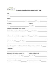 Eyelash Extension Appointment Consultation Form by Lash Stuff
