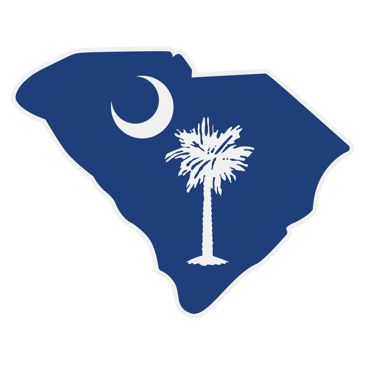 South Carolina Home Decor South Carolina Art Columbia Sc: South Carolina Flag On SC Outline Decal