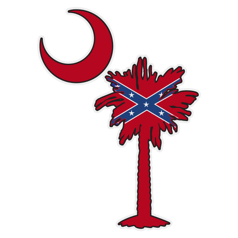 Confederate Flag On South Carolina Tree Amp Moon The