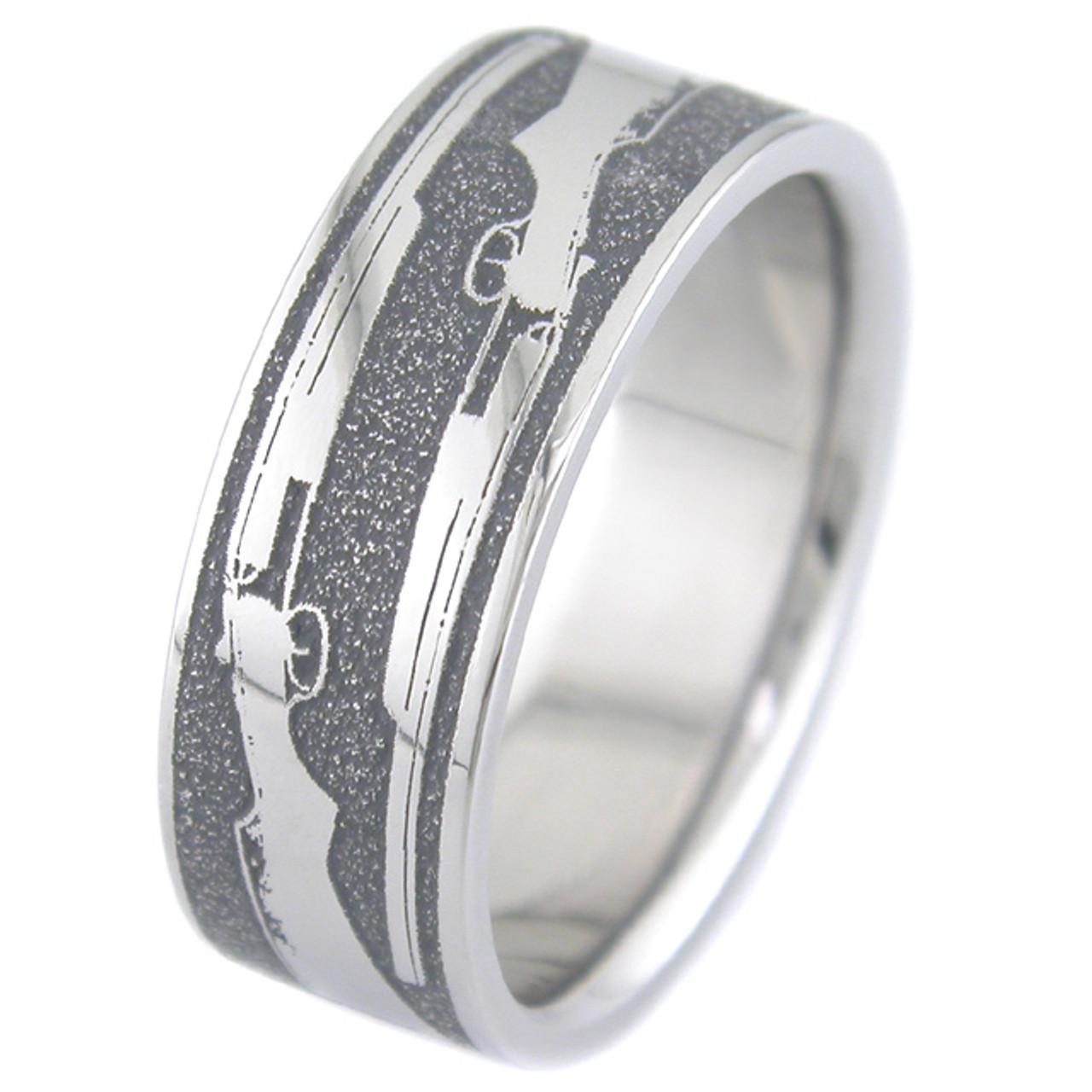 the shotgun wedding ring unique titanium rings amp more
