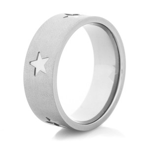 Men's Gunmetal Titanium All-Star Wedding Band