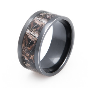 Black Zirconium Realtree® Advantage Timber Camo Ring