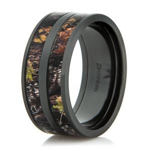 Men's Black Double Barrel Camo Ring