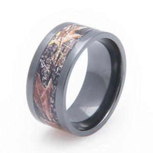 Black Zirconium Mossy Oak Camo Ring