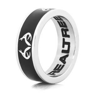 Ladies Realtree Logo Ring-Black