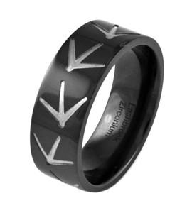 Black Turkey Tracks Ring