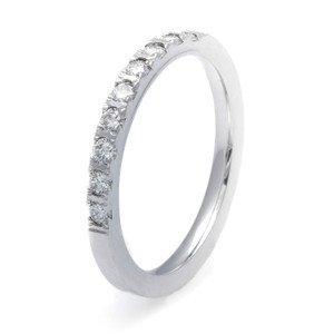Women's Cobalt Chrome Bead Set Wedding Band