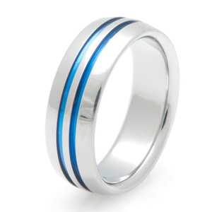 Blue Titanium Ring