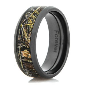 Men's Black Zirconium Realtree MAX-4 Camo Ring
