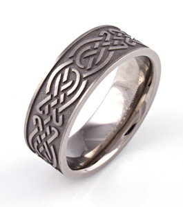 Carved Celtic Knotwork Ring