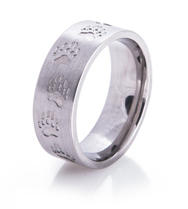 Bear Tracks Wedding Ring