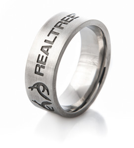Titanium Carved Antler Emblem Realtree® Ring