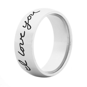 Men's Cobalt Handwriting Ring