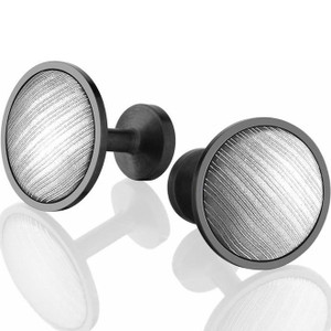 Black Zirconium and Damascus Steel Cufflinks