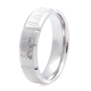 Men's Titanium Deer Antler and Tree Bark Ring