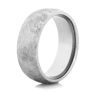 Men's Gunmetal Titanium Western-Style Wedding Band