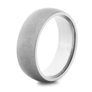 Men's Dome Profile Gunmetal Titanium Ring