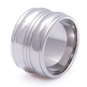 Double Trouble Titanium Ring