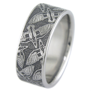 Titanium Flying Duck Ring