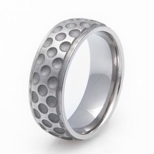 Men's Grooved Edge Titanium Golf Ball Ring