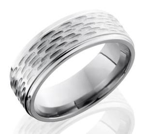 Gouged Titanium Ring