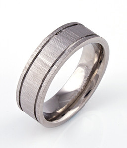 Grooved Rustic Ring