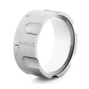Men's Gunmetal Titanium Revolver Ring