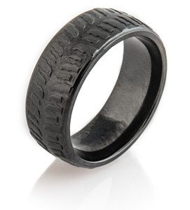 Men's Black Polished Mud Bogger Ring